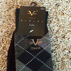 Mens Versace socks. 2 pair. 19V69. Sz 10-13.